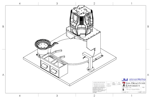 SolidWorks drawing of Final Assembly
